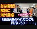【海外の反応】 韓国の 慰安婦財団 日韓合意で 設立されたのに 解散? 海外困惑 「決められたことは 履行しろよ…」 5億円の 使途不明も