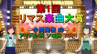 [中間発表 #3] 第1回 ミリマス楽曲大賞 [アイドル別 ソロ曲 TOP1]