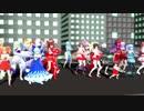 【東方 MMD】22人でBad Apple!!