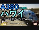 【ゆっくり】A380にも乗るハワイ 18 A380プレミアムエコノミー