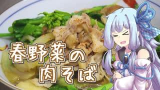 【あつまれ!1分弱料理祭】春野菜の肉そば