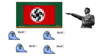 Party Parrotに演説するヒトラー総統閣下