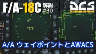 【DCS:F/A-18C】解説#29 A/Aウェイポイン