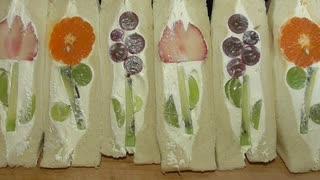 [音フェチ] お花のフルーツサンドの作り方
