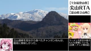 【1分弱登山祭-遅刻】尖山RTA 30'40