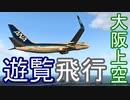 【xplane11】737で大阪上空を遊覧飛行してみた。