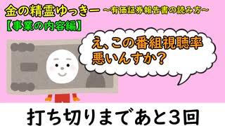 金の精霊ゆっきー② ~有価証券報告書の読