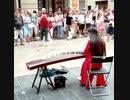 バイカル湖で二胡の演奏