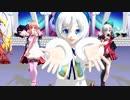 【MMD】電脳少女シロとアイドル部でお願い!シンデレラ【.LIVE】
