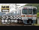 【JR東海】313系5300番台 豊橋方併結 ~逆組成と代走~