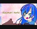 【初オリジナル曲】-Hajime Note-【重音テト】