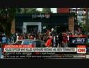 アトランタ警察の黒人射殺に抗議の人々が焼けたウエンディーズに集まる?