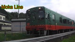 朝の真岡線の電車たち