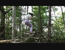 【生駒山麓公園】フィールドアスレチック 8番・9番に挑戦するあい❤ネットにつかまって1回転するのは無理でしょうwww