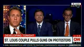抗議デモに銃口を向けた男性「アレはテロ