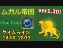 【EU4】ver1.30 One Faith タイムライン ムガル帝国 part1【ゆっくり実況】
