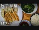 自炊#15 餃子御膳