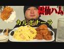 ASMR/咀嚼音/カルボナーラ、雲仙ハムカツを食べる音