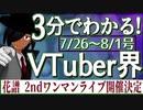 【7/26~8/1】3分でわかる!今週のVTuber界【佐藤ホームズの調査レポート】