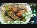 【貧ぼっち飯】ゴーヤの肉詰めスープ
