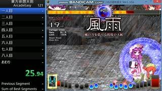 東方非想天則 Arcade Easy RTA 世界記録9: