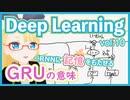 【深層学習】GRU - RNN に記憶をもたせる試みその1【ディープラーニングの世界 vol. 10 】 #066 #VRアカデミア #DeepLearning #GatedRecurrentUnit