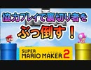 【実況】2vs2で協力しない害悪プレイヤーを叩きのめそうw スーパーマリオメーカー2 みんなでバトル