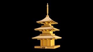 ダンボールで法起寺三重塔を建立してみた
