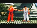 【格ゲーTAS】 リュウ vs ケン (Street Fighter III: 3rd Strike)【AI高画質/60 fps】