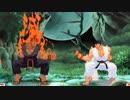 【格ゲーTAS】リュウ vs 豪鬼(Street Fighter III: 3rd Strike)【AI高画質/60 fps】