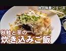 【ぼっち飯】秋鮭とじゃがいもの炊き込みご飯!秋の味覚だよ!