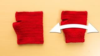 【ジグザグ編み】全てのかぎ針編み手袋に