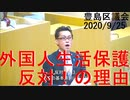 外国人生活保護反対演説(豊島区議会20200925)