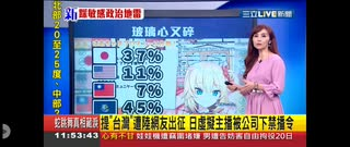 【朗報】はあちゃま、台湾のニュースで大