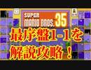 マリオ35解説攻略:1ー1はコイン稼ぎとフラワー確保!【スーパーマリオブラザーズSUPER MARIO BROSバトロワ】