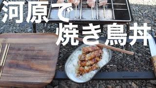 河原で焼き鳥丼作ってきました。(2020.1