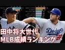 【MLB版】田中将大世代の投手勝利数&野手安打数ランキングの推移【1988年生まれ】