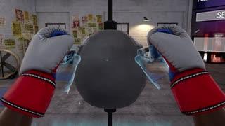 『VRボクシング』で、私のパンチを受けてみろ!!
