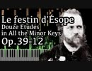 没【アルカン】全ての短調による12の練習曲第12番 - イソップの饗宴 - Op.39-12 -【Synthesia/Alkan/Le festin d'Ésope/Douze études】