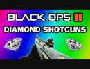 Black Ops 2: Diamond Shotguns - R870 MCS, KSG, S12, M1216 Review (Diamond Camo Gameplay)