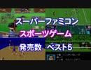 【SFC】スポーツゲーム発売数ランキング Part1【調査】