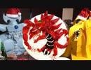 クリスマスケーキでオシリスを作るオベリスクの巨神兵