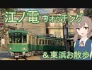 ささらちゃんがお散歩して江ノ電ウォッチングする動画