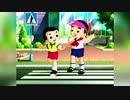 北朝鮮アニメ「交通規則をよく守ろうね」第2話 手信号