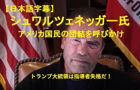 【字幕】シュワルツェネッガー氏が団結を