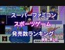 【SFC】スポーツゲーム発売数ランキング Part2【調査】