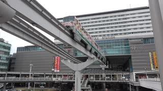 【単線】北九州モノレールの小倉駅出入り【並列】