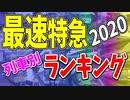 【鉄道豆知識】最速特急列車 列車別ランキング2020 #36