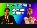 Black Ops 2 Buried Zombies - 2v2 Grief Starting at Round 20 (Bad Strategy, Funny Moments / Fails)