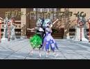 【東方MMD】チルノとエタニティラルバ【ポジティブ☆ダンスタイム】